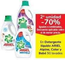 Oferta de En detergente líquidoi ARIEL Alpine, Color y Bbevé por