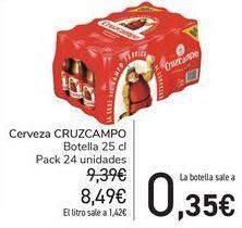 Oferta de Cerveza Cruzcampo por 8,49€
