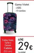 Oferta de Trolley Violet, Turtle o casium Cabina  por 29€