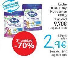 Oferta de Leche HERO Baby Nutrasense  por 9,7€