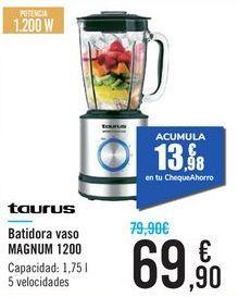 Oferta de Batidora vaso MAGNUM 1200 Taurus  por 69,9€