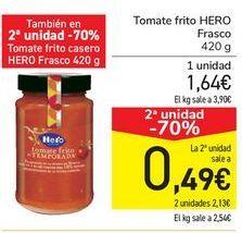 Oferta de Tomate frito HERO Frasco por 1,64€