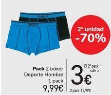 Oferta de Pack 2 bóxer Deporte Hombre  por 9,99€