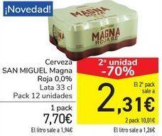 Oferta de Cerveza SAN MIGUEL Magna Roja 0,0%  por 7,7€
