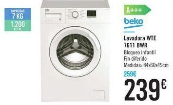 Oferta de Lavadora WTE 7611 BWR Beko por 239€