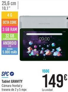 Oferta de Tablet GRAVITY SPC  por 149€