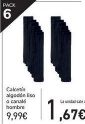 Oferta de Calcetín algodón liso o canalé hombre  por 9,99€