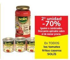 Oferta de En TODOS los tomates fritos caseros SOLÍS por