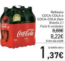 Oferta de Refresco Coca-Cola o Zero  por 8,22€