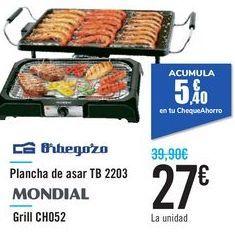 Oferta de Plancha de asar TB 2203 Orbegozo  por 27€