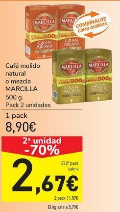 Oferta de Café molido natural o mezcla MARCILLA por 8,9€