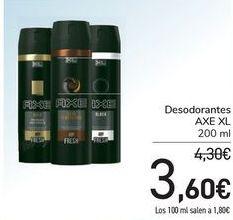 Oferta de Desodorante Axe XL  por 3,6€