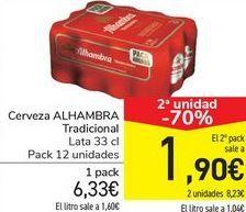 Oferta de Cerveza ALHAMBRA Tradicional  por 6,33€