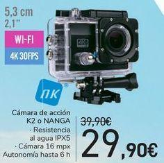 Oferta de Cámara de acción K2 o NANGA  por 29,9€
