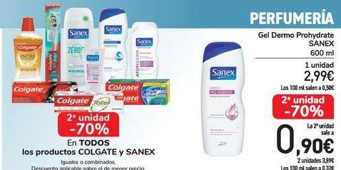 Oferta de En TODOS los productos COLGATE y SANEX, iguales o combinados  por