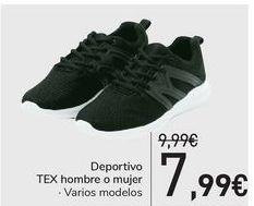 Oferta de Deportivo TEX Hombre o mujer  por 7,99€