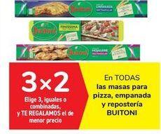 Oferta de En TODAS las masas para pizza, empada y repostería BUITONI por