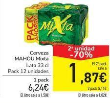 Oferta de Cerveza MAHOU Mixta  por 6,24€