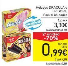 Oferta de Helados DRÁCULA o FRIGOPIE  por 3,3€