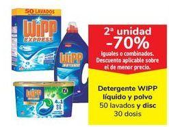 Oferta de Detergente WIPP Líquido y polbo y disc por