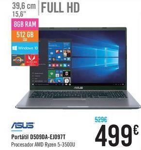 Oferta de Portátil D509DA-EJ097T ASUS por 499€