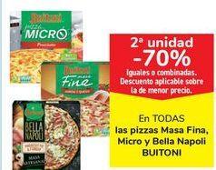 Oferta de En TODAS las pizzas masa Fina, Micro y Bella Napoli Buitoni  por