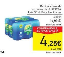 Oferta de Bebuda a base de extractos de té NESTEA por 5,65€