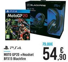 Oferta de Moto GP20 + Headset BFX15 Blackfire  por 54,9€