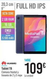 Oferta de Tablet T8 HUAWEI por 109€
