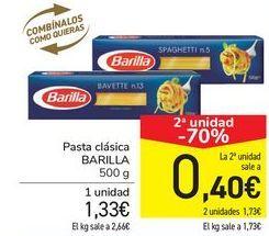 Oferta de Pasta clásica BARILLA por 1,33€