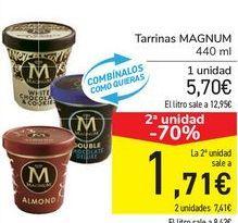 Oferta de Tarrinas MAGNUM  por 5,7€