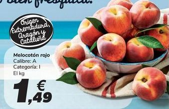 Oferta de Melocotón rojo por 1,49€