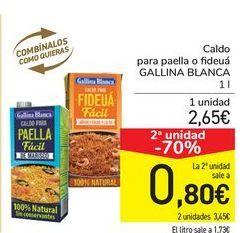 Oferta de Caldo para paella o fideuá GALLINA BLANCA por 2,65€