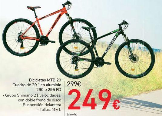 """Oferta de Bicicleta MTB 29 Cuadro de 20"""" de aluminio 290 o 295 FD por 249€"""
