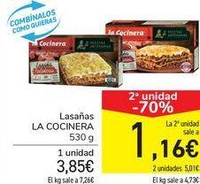 Oferta de Lasaña LA COCINERA  por 3,85€