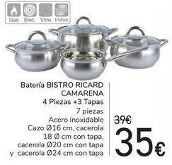 Oferta de Batería BISTRO RICARD CAMARENA  por 35€