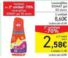 Oferta de Lavavajillas SOMAT  por 8,6€