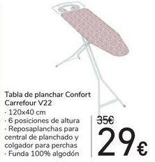 Oferta de Tabla de planchar Confort Carrefour V22 por 29€