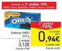 Oferta de Galletas OREO por 3,12€