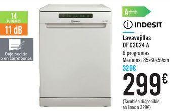 Oferta de Lavavajillas DFC2C24 A Indesit  por 299€