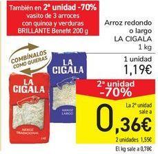 Oferta de Arroz redondo o largo LA CIGALA por 1,19€
