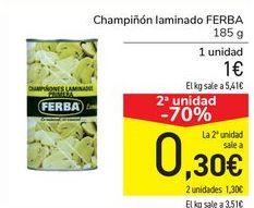 Oferta de Champiñón laminado FERBA por 1€