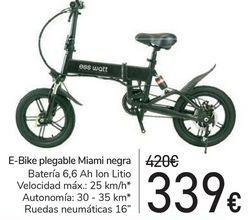Oferta de E-Bike plegable Miamia Negra  por 339€