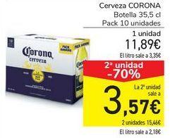 Oferta de Cerveza CORONA  por 11,89€