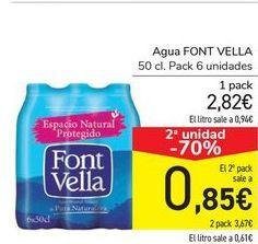Oferta de Agua Font Vella por 2,82€