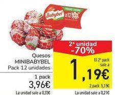 Oferta de Queso MINIBABYBEL por 3,96€