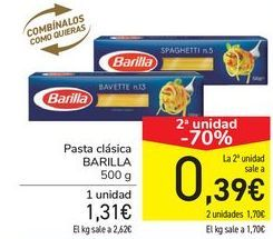 Oferta de Pasta clásica BARILLA por 1,31€