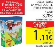Oferta de Queso Palitos LA VACA QUE RÍE  por 3,7€