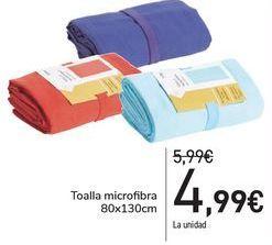 Oferta de Toalla microfibra  por 4,99€
