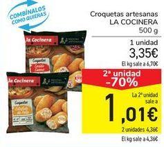 Oferta de Croquetas artesanas LA COCINERA  por 3,35€